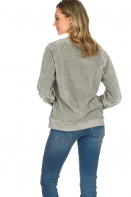 American Vintage | Fluwelen trui Isacboy | grijs  | Afbeelding 4