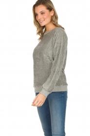 American Vintage | Fluwelen trui Isacboy | grijs  | Afbeelding 3