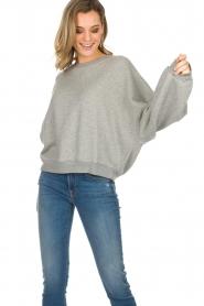 American Vintage |  Cotton oversized sweater Lokobridge | grey  | Picture 3
