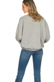 American Vintage |  Cotton oversized sweater Lokobridge | grey  | Picture 6