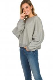 American Vintage |  Cotton oversized sweater Lokobridge | grey  | Picture 5