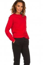 American Vintage |  Sweater Kinouba | red  | Picture 2