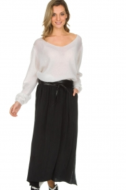 American Vintage |  Maxi skirt Nonogarden | black  | Picture 2