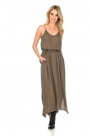American Vintage |  Maxi skirt Nonogarden | green  | Picture 3