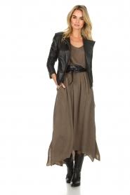 American Vintage |  Maxi skirt Nonogarden | green  | Picture 2
