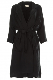 American Vintage |  Wrap coat Meadow | black  | Picture 1