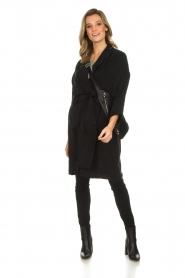 American Vintage |  Wrap coat Meadow | black  | Picture 3