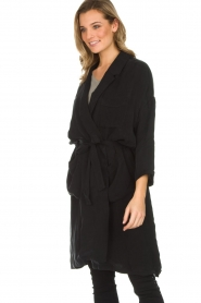 American Vintage |  Wrap coat Meadow | black  | Picture 4