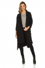 American Vintage |  Wrap coat Meadow | black  | Picture 6