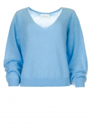 American Vintage    Knitted sweater with wide neck Ugoball   blue    Picture 1