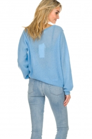 American Vintage    Knitted sweater with wide neck Ugoball   blue    Picture 5