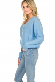 American Vintage    Knitted sweater with wide neck Ugoball   blue    Picture 4