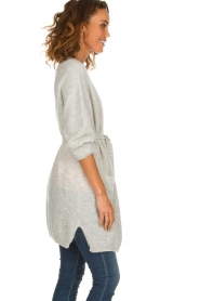 American Vintage    Long knitted cardigan Vikiville   grey    Picture 4
