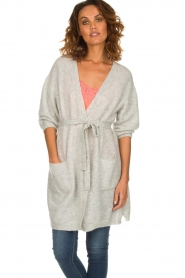 American Vintage    Long knitted cardigan Vikiville   grey    Picture 2