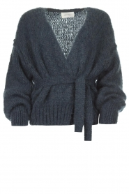 American Vintage |  Knitted cardigan Manina | blue  | Picture 1