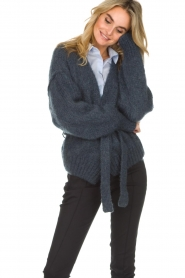 American Vintage |  Knitted cardigan Manina | blue  | Picture 4