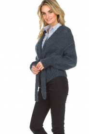 American Vintage |  Knitted cardigan Manina | blue  | Picture 5