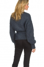 American Vintage |  Knitted cardigan Manina | blue  | Picture 6