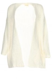 American Vintage |  Knitted cardigan Boolder | white  | Picture 1