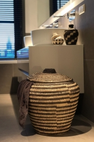 Little Soho Living |  Printed rattan basket Billy - small | black & white  | Picture 3