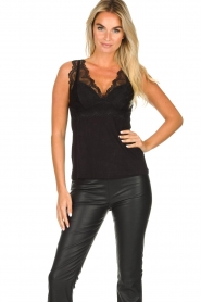 Rosemunde |  Top with lace Lynn | black  | Picture 2
