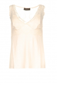 Rosemunde |  Top with lace Lynn | beige