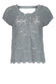 Rosemunde |  Lace top with low back Lieve | blue  | Picture 1