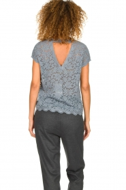 Rosemunde |  Lace top with low back Lieve | blue  | Picture 5