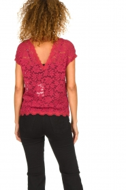 Rosemunde |  Lace top with low back Lieve | raspberry red  | Picture 5