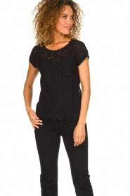 Rosemunde |  Lace top with low back Lieve | black  | Picture 3