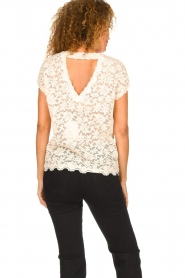 Rosemunde |  Lace top with low back Lieve | natural  | Picture 5