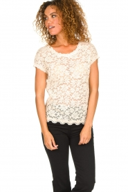 Rosemunde |  Lace top with low back Lieve | natural  | Picture 3