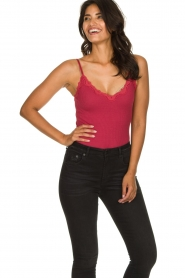 Rosemunde |  Top with lace Yara | pink  | Picture 2