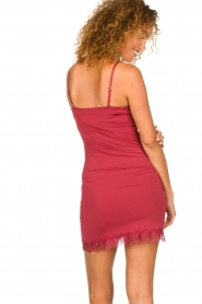 Rosemunde |  Slip dress Billie | raspberry red  | Picture 4
