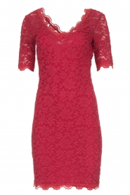 Rosemunde |  Lace dress Louize | raspberry red  | Picture 1