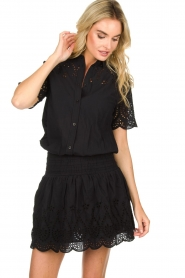 Freebird |  Dress with cut-out details Jip | black  | Picture 2