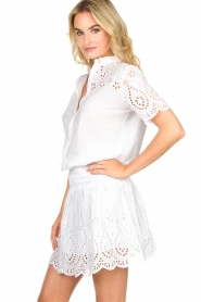 Freebird |  Dress with cut-out details Jip | white  | Picture 4