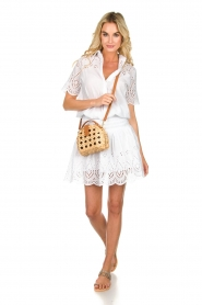 Freebird |  Dress with cut-out details Jip | white  | Picture 5