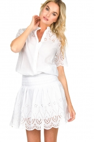 Freebird |  Dress with cut-out details Jip | white  | Picture 2