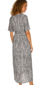 Freebird |  Snake print maxi dress Levi | grey  | Picture 5