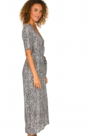 Freebird |  Snake print maxi dress Levi | grey  | Picture 4