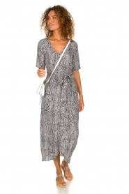 Freebird |  Snake print maxi dress Levi | grey  | Picture 3