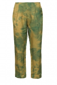 Rabens Saloner |  Tie dye pants Joan | green  | Picture 1
