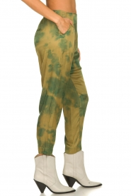 Rabens Saloner |  Tie dye pants Joan | green  | Picture 4