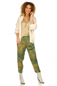 Rabens Saloner |  Tie dye pants Joan | green  | Picture 3