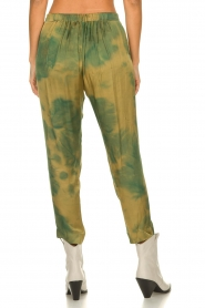 Rabens Saloner |  Tie dye pants Joan | green  | Picture 5
