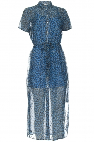 Freebird |  Maxi dress with leopard print Harper | blue  | Picture 1
