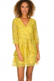 Freebird |  Floral dress Lola Flower | yellow  | Picture 2