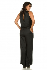 Rabens Saloner |  Jumpsuit with drawstring Greta | black  | Picture 4