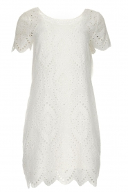Freebird |  Dress with embroideries and cut-outs Tammy | white  | Picture 1